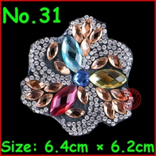3Pcs/Lot Shiny pattern rhinestone applique Hotfix heat transfer iron on motifs patches Motifs Crystal Diy Accessories