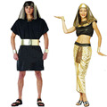 Women Men Egypt Warrior Pharaoh Prince Princess Female Party Halloween Costume Cosplay Carnival Costumes