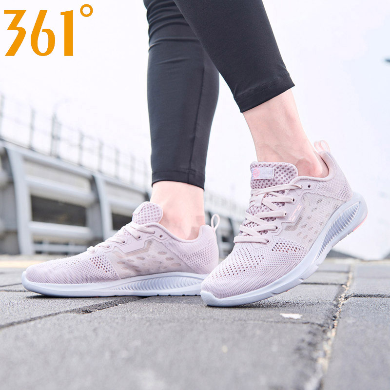 361 degree Women's running shoes breathable light weight 2019 new style sport sneakers outdoor 581922235(China)