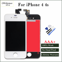 Mobymax AAA Quality LCD Display For IPhone 4 4s Touch Screen Digitizer Complete Replacement Black White