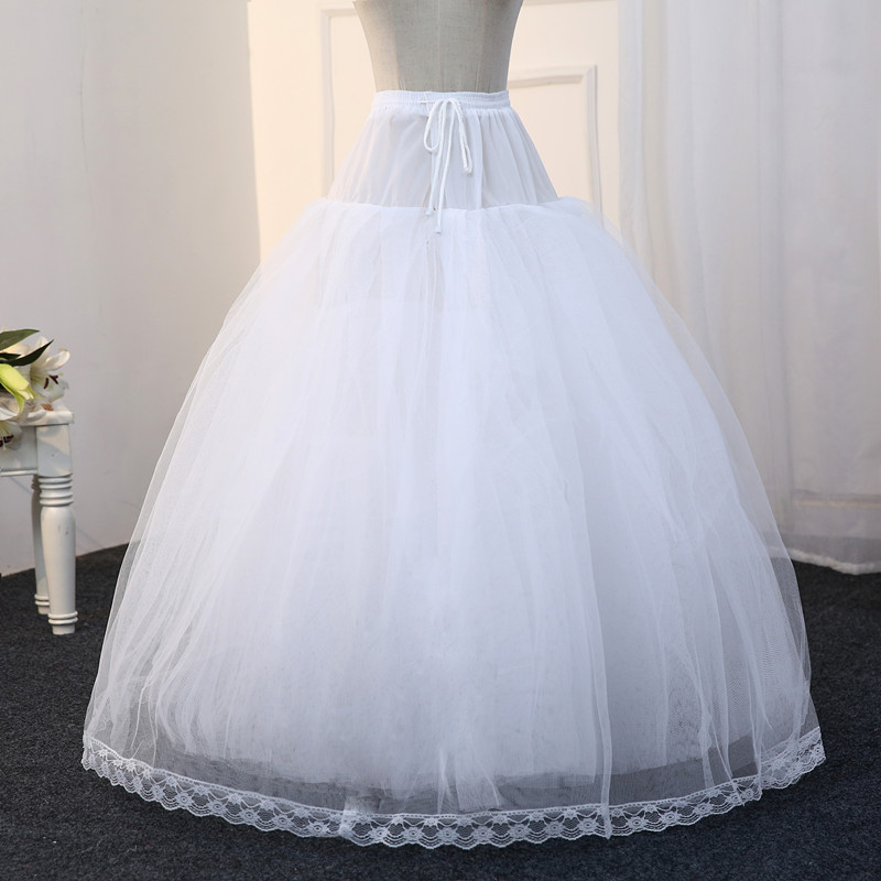 8 Layers Tulle Underskirt Wedding Accessories Chemise Without Hoops For Ball Gown Wedding Dress Wide Plus