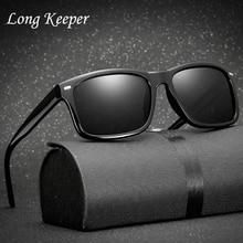 Long Keeper Men Sunlasses Night Vision Glasses 100% Polarized Sunglasses Car Driver Goggle Driving Sun KP1030