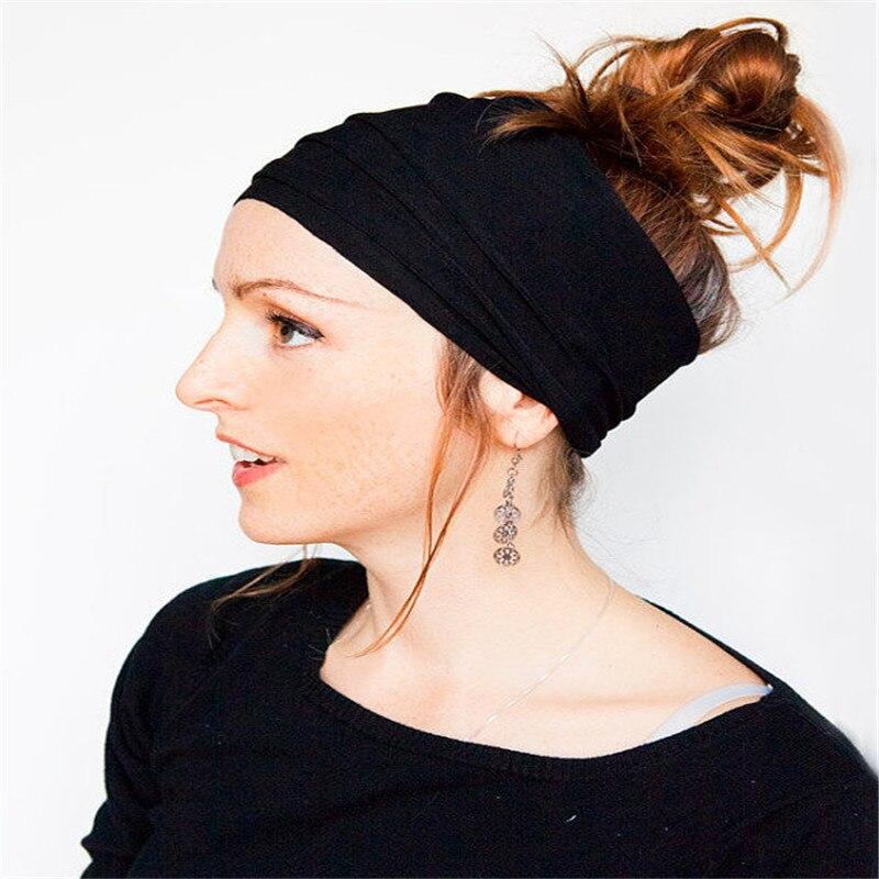 2pcs/lot Drap Wide Womens Headbands European American Lady Hair Accessories Hair Ornament Hairband Rim On The Head Turban Tiara
