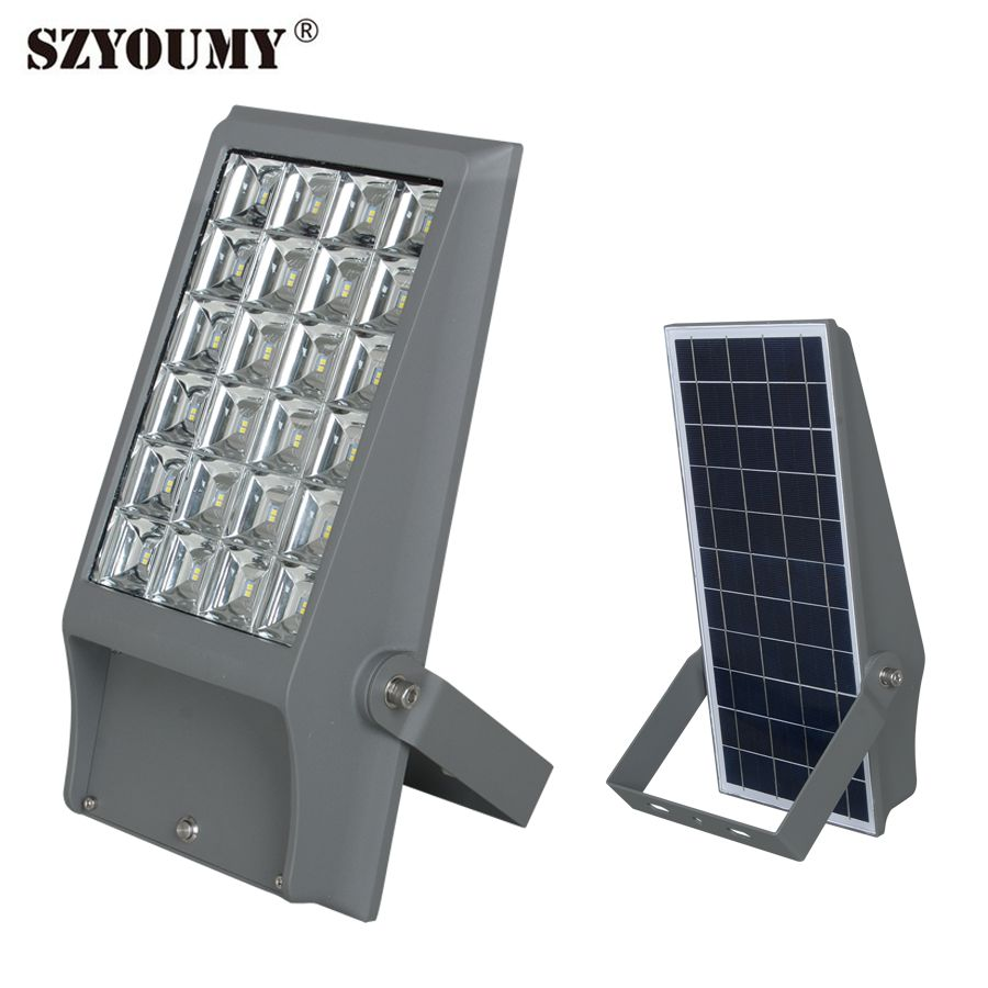 SZYOUMY 8W 12W Solar Powered Lights Outdoor Courtyard Waterproof Lamp For Advertising Solar Floodlight Spotlight