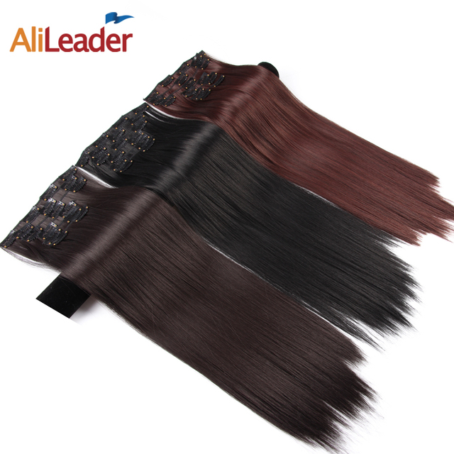 Alileader Full Head Clip In Hair Extensions Synthetic Hair 22