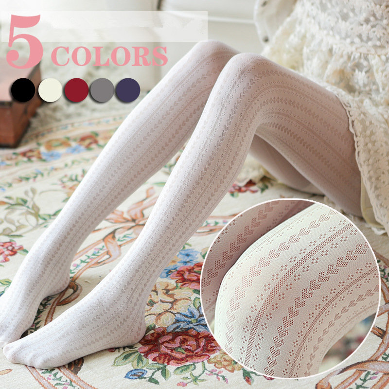 Spring Summer Girls Tights Hollow Love Sexy Stockings