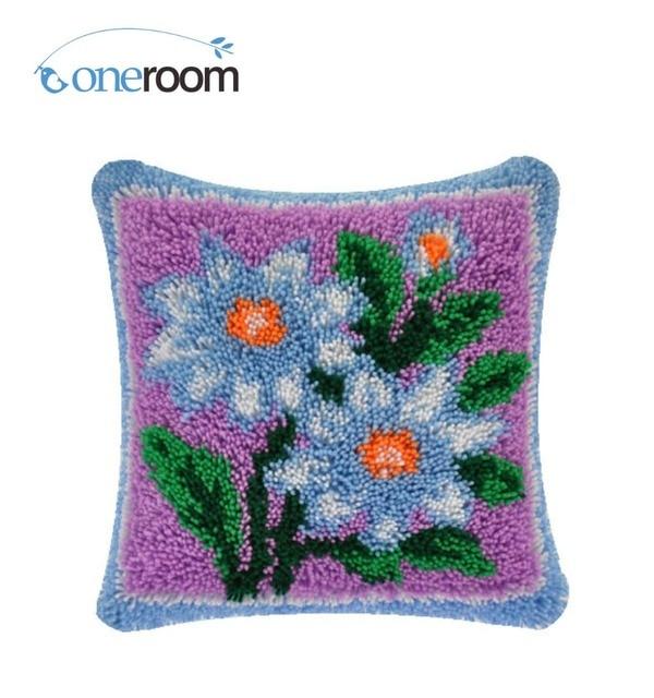 4thbz519 Flowers 4thhook Rug Kit Pillow Diy Unfinished Crocheting Yarn Mat Latch Hook Floor