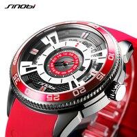 SINOBI 316 Stainless Steel Men's High Quality Sports Watches Silicone Man Military Navy Quartz Watch Or Clock Relogio Masculino