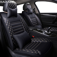 KADULEE PU Leather car seat cover for Audi A6L R8 Q3 Q5 Q7 S4 RS Quattro A1 A2 A3 A4 A5 A6 A7 A8 auto accessories car stickers