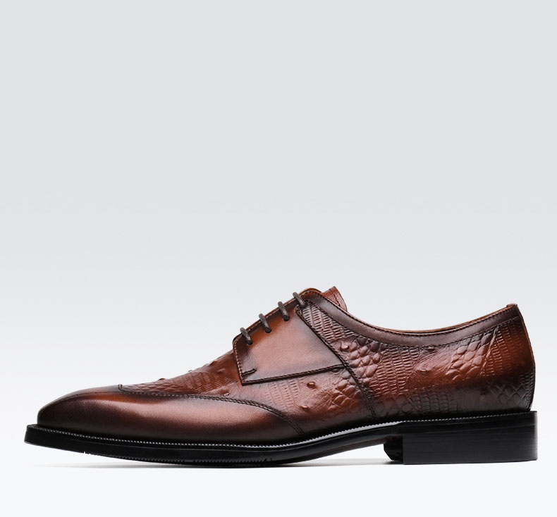 Hot Handmade Men 39 s Oxford Dress Shoes 2019 Black Genuine Leather Male Shoe Lace up Wedding Office Formal Classic Shoes in Formal Shoes from Shoes