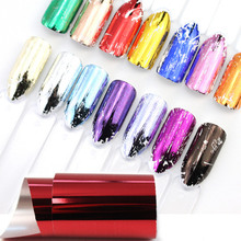 14pcs Charm Nail Foils Polish Stickers Metal Color Starry Paper Transfer Foil Wraps Adhesive Decals Nail Art Decorations 1 sheets diy polish decorations beauty charm blue flower nail art stickers decals full wraps foils manicure decorations xf1372