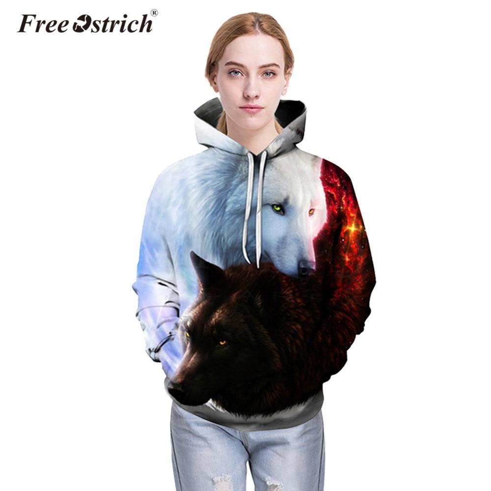 Free Ostrich Hoodies Sweatshirt Autumn Pullovers 3D Animal Print Women Men Long Sleeve Harajuku Sudadera Mujer Streetwear A0835
