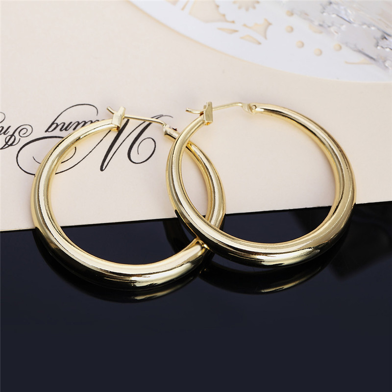 Женские круглые серьги-кольца из серебра 925 пробы