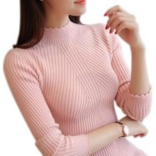 Autumn Winter Sweater Women 2018 Turtleneck Women Sweaters Pullovers Female Long Sleeve Striped Warm Jumper Ladies Pull Femme