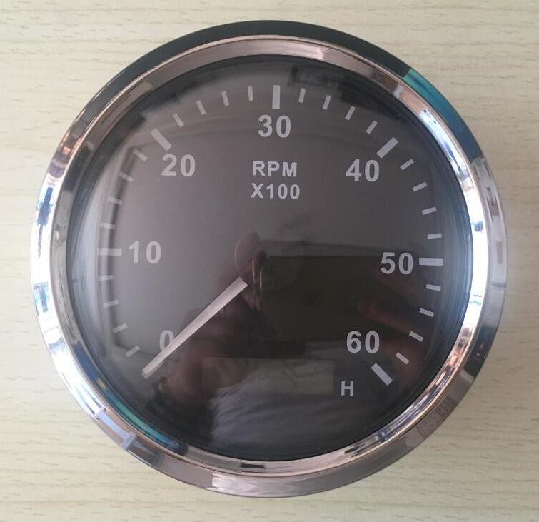 brand new 6000RPM tachometers revolution gauges 12v / 24v with backlight fit for boat automobile motor homes universal the wave