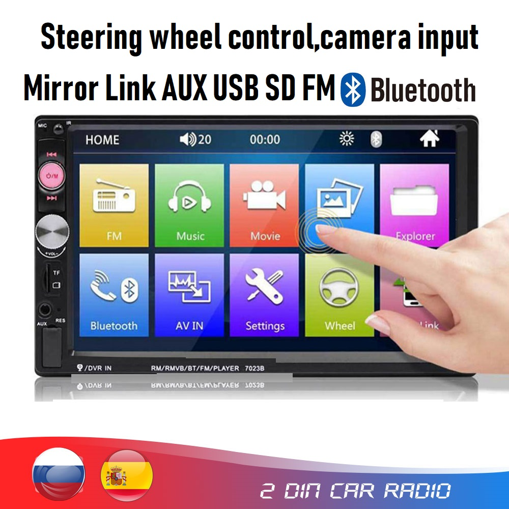 Car Head Unit In-dash Multimedia Universal 2 Din Car Mp5 Player With Bluetooth FM Radio USB SD Mirror Link,camera Input