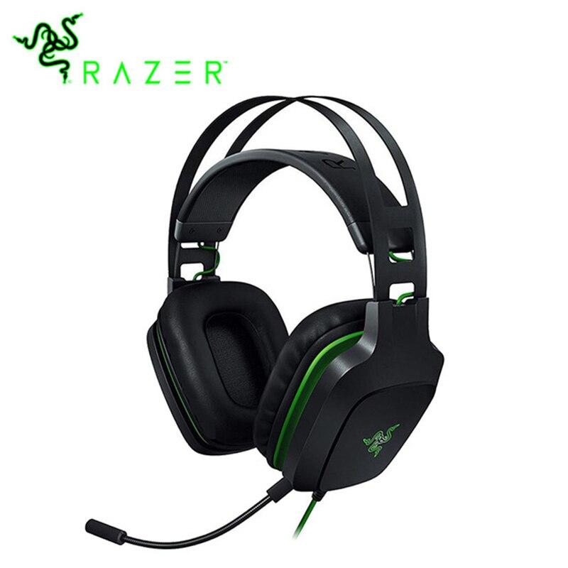 """מקורי Razer אלקטרה V2 3.5 מ""""מ אוזניות משחקי 7.1 סראונד עם נתיק מיקרופון עבור מחשב/Xbox אחד/ PS4/מחשב נייד אוזניות גיימר"""