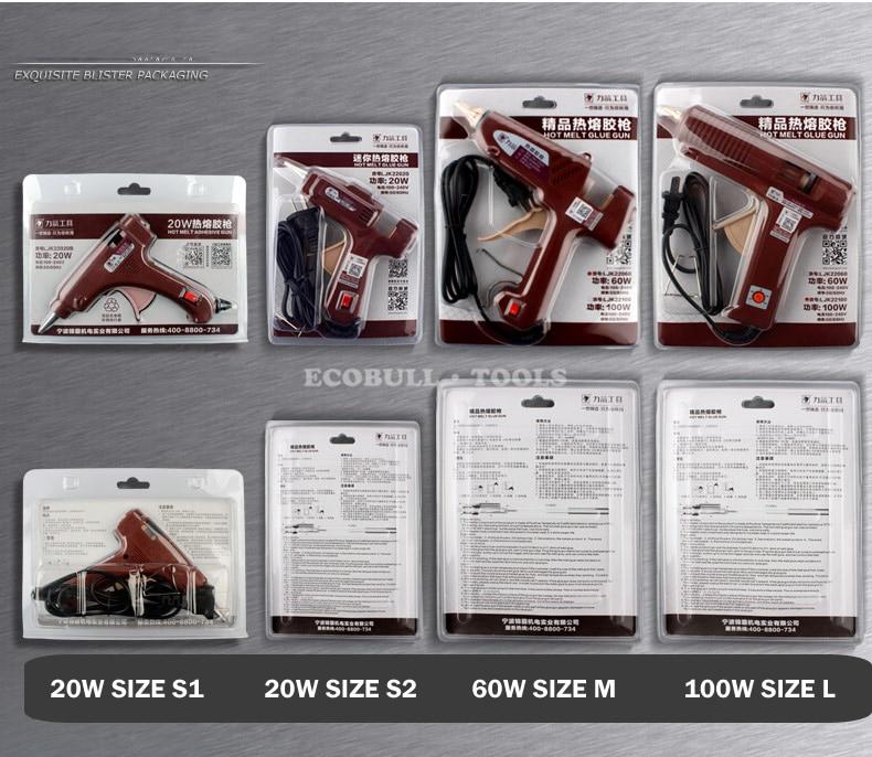 Pistola per colla a caldo LIJIAN 20 W / 60 W / 100 W Spina US / EU - Utensili elettrici - Fotografia 6