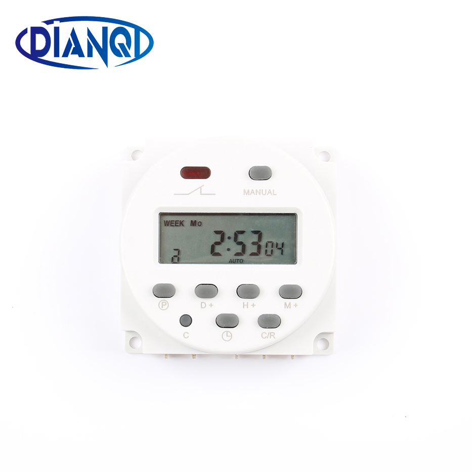 CN101B AC 12V 24V 220V 110V Digital LCD Power Timer CN101B Programmable Time Switch Relay with protective cover weekly 7days thc15a zb18b timer switchelectronic weekly 7days programmable digital time switch relay timer control ac 220v 30a din rail mount
