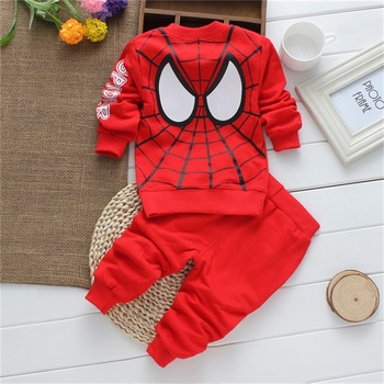 New Cartoon Baby Boys Clothing Sets Cotton 0-2 Ages newborn clothes For Boys girls Clothes sets Spring Spider Man Costumes KIds