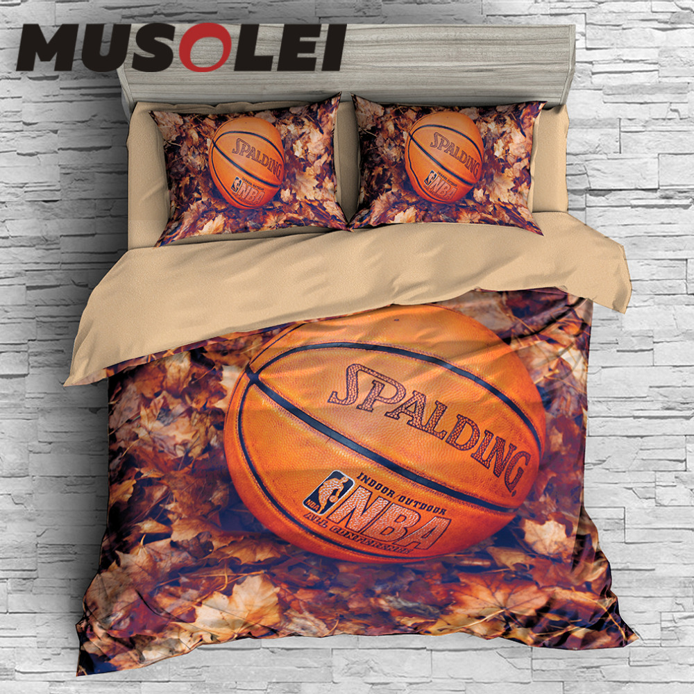 MUSOLEI Digital Printin Bedding Set Basketball Bed Cover Set Duvet cover set CL-King Sizes Home Textiles 3pc