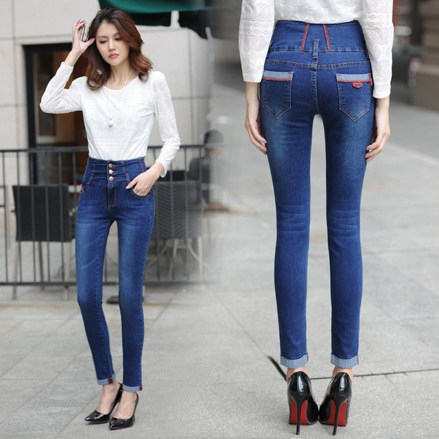 Aliexpress.com : Buy S 2XL big size Girl High waist Jeans women ...
