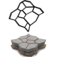 De Tuin Steen Road Beton Mallen Bestrating Mal Diy Plastic Path Maker Mold Handmatig Bestrating Cement Baksteen Mallen B 50*50*4.4 Cm