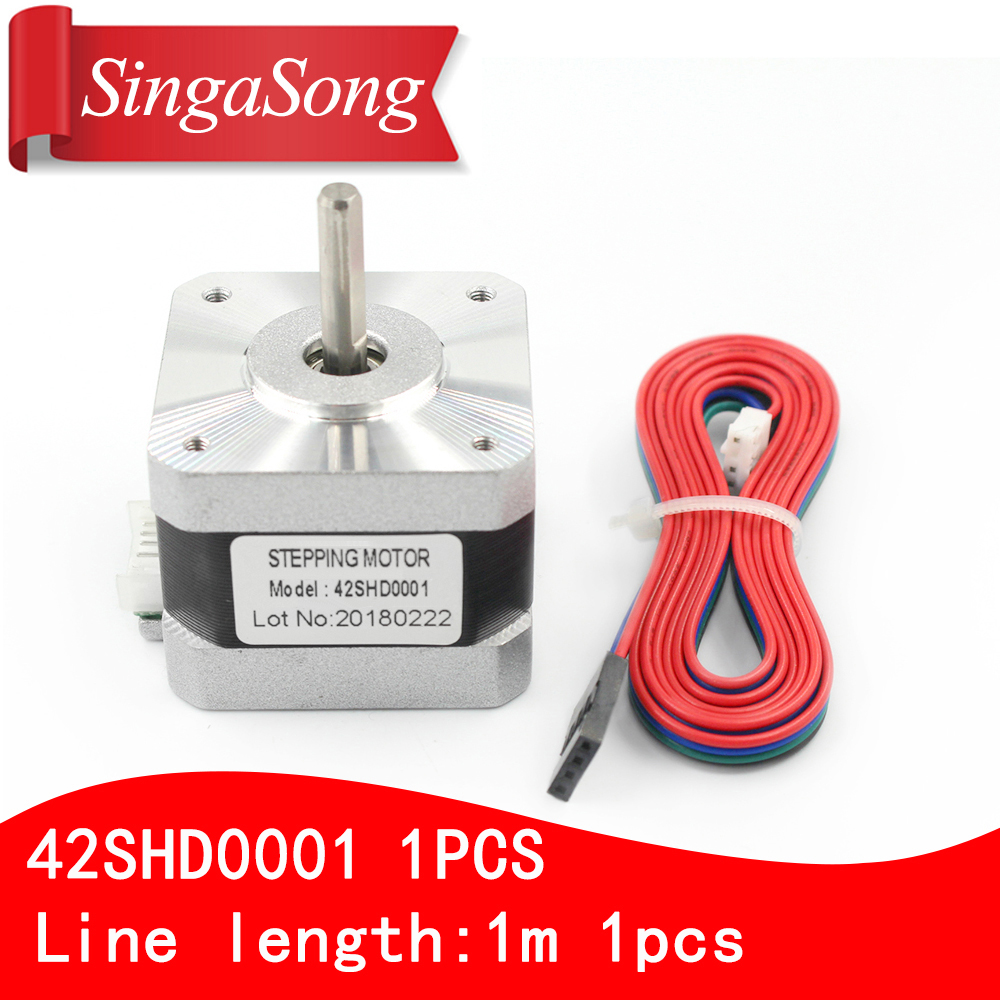 Nema 17 Stepper Motor bipolar 4 leads 34mm 12V 1.2 A 26Ncm(36.8oz.in) 3D printer motor 42SHD0001