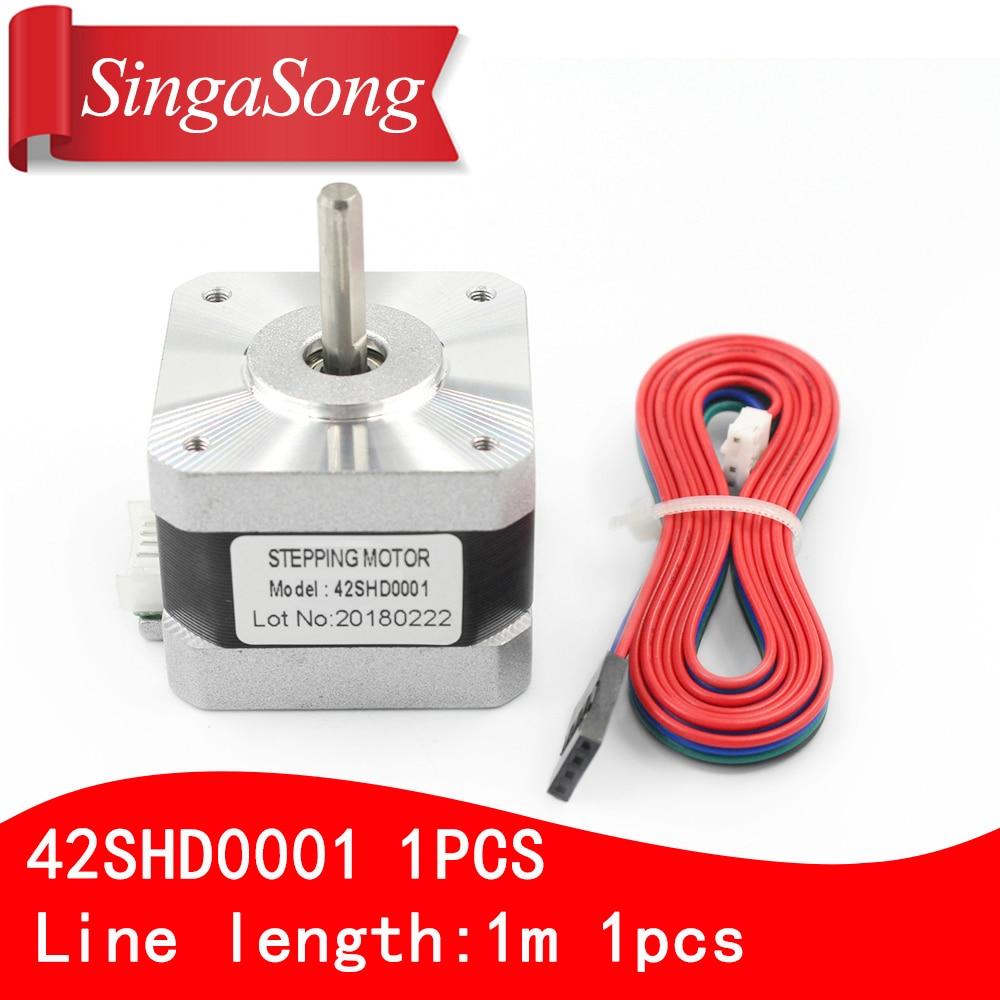 Usongshine Nema 17 Stepper Motor bipolar 4 leads 34mm 12V 1.5 A 26Ncm(36.8oz.in) 3D printer motor 42SHD0001