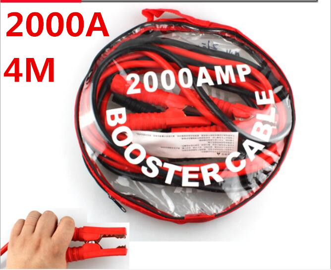 length 4M 3M 2.5M SUV booster cable car battery terminals jump starter cable start cable para <font><b>baterias</b></font> <font><b>auto</b></font> image