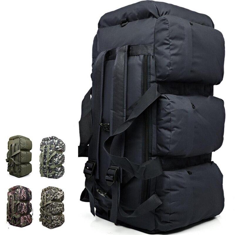 Plein air grande capacité armée tactique sacs à dos Camouflage escalade militaire sac à dos sac de sport randonnée 9 poches 90L