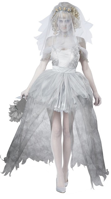 cosplay women vampire zombie dress decadent ghost dead bride costumes halloween wedding scary costumes