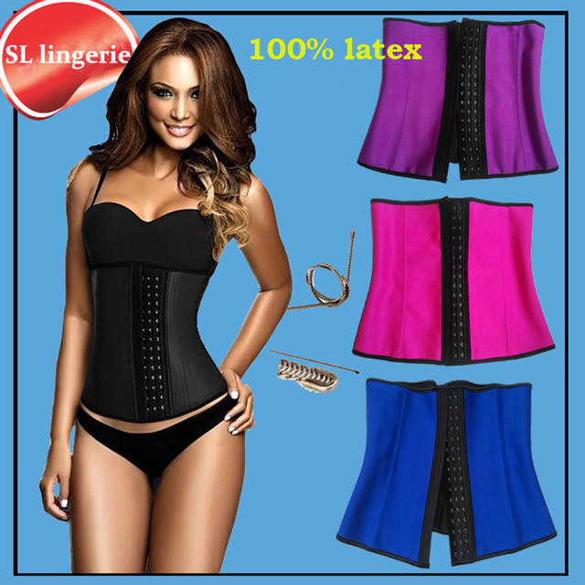 1a0c938993a99 Waist Trainer Modeling Strap latex cincher girdles Shapewear slimming belt  body shaper rubber binder fitness corset sheath belly