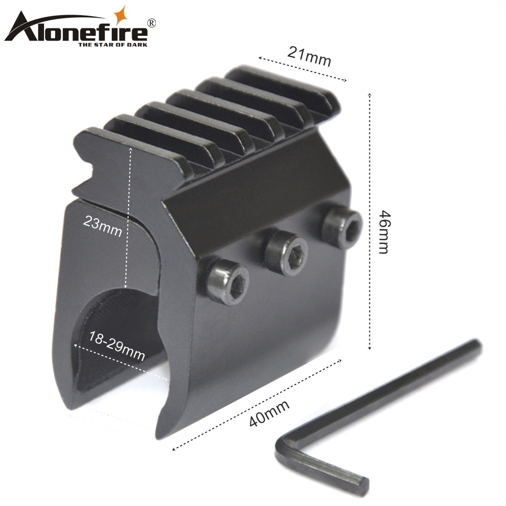 AloneFire T2012 Airsoft Rifle Shot Gun Tube Converter Bracket Dovetail Base 21mm Rail Adapter Laser Light Scope Sight Base Mount