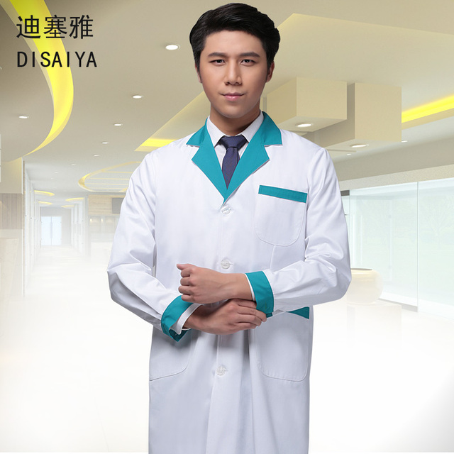 Winter white blue green coat  thickening long-sleeve male doctor clothing female nurse Uniform work wear Pharmacies beautician