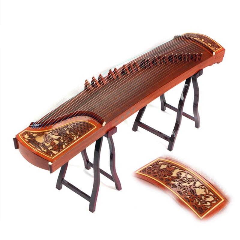 Haute qualité performance professionnelle jouant Guzheng platane bois Instruments de musique cithare 21 cordes avec accessoires complets