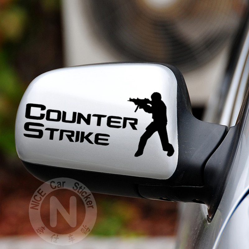 Car Stickers Counter Strike CS Creative Cool Decals For Rearview Mirrors Waterproof Auto Tuning Styling 15*6.5cm D11