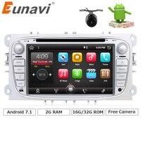 Eunavi 2 Din Quad Core 2G RAM Android 7 1 Car DVD Player Radio GPS Navigation
