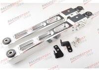 Argento da corsa in alluminio posteriore inferiore di controllo braccio per mitsubishi evo 1 2 3 4g63