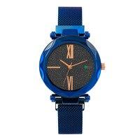 Popular Starry Sky Women Watches Luxury Rhinestone Brand Watch Leather Strap Quartz Dress Wristwatch Female Clock Gift Relogio#W