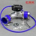 2 36 ''60 мм 90 градусов Фланцевая труба + SQV выдувной клапан BOV IV 4 черный + силиконовый шланг комплект синий