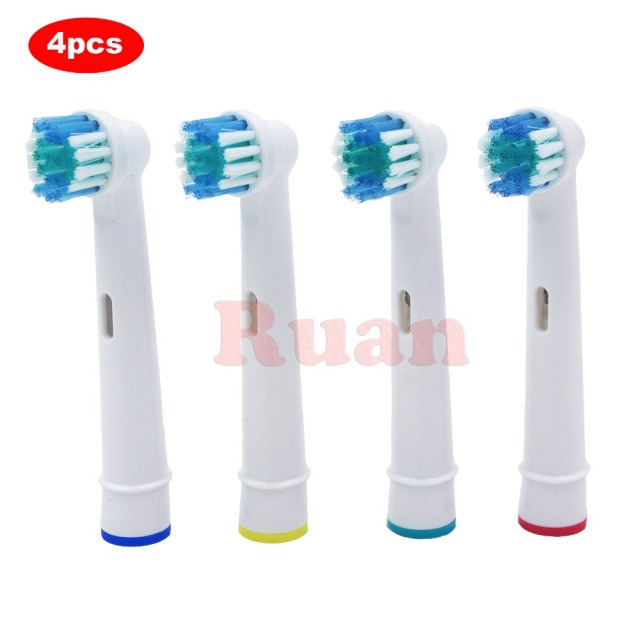 4pcs Replacement Brush Heads For Oral-B Electric Toothbrush for Braun Professional Care/Professional Care SmartSeries/TriZone 1