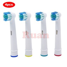 4pcs Replacement Brush Heads For Oral-B Electric Toothbrush for Braun Professional Care Professional Care SmartSeries TriZone cheap Toothbrushes Head Adults SB-17A Professional Care 500 550 1000 3000 2000 600 1000 325 RONSIT Plastic Toothbrush heads 4-Pack