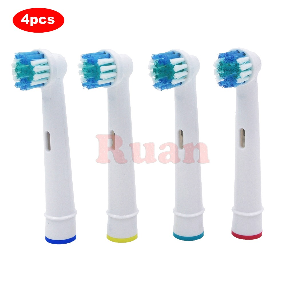 4pcs Replacement Brush Heads For <font><b>Oral</b></font>-<font><b>B</b></font> Electric Toothbrush for Braun Professional Care/Professional Care SmartSeries/TriZone image