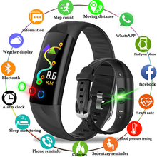 BANGWEI Smart Men Watch Heart Rate Fitness Tracker Pedometer LED Color Screen Bluetooth Connection IP68 Waterproof Sport