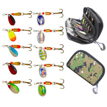 10pcs/lot Gaining Fishing Spoon Lures Spinner Bait 2.5-4g Fishing Wobbler Metal Baits Spinnerbait Isca with Portable Carry Bag(China)