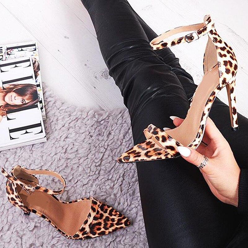 Poadisfoo 1 Grande Avec Pointu Chaussures Sandales fd115 De Zl Leopard Haute Hauts Léopard Taille Peau Super Femmes À Talon Un Talons Sexy kPXuOiZT
