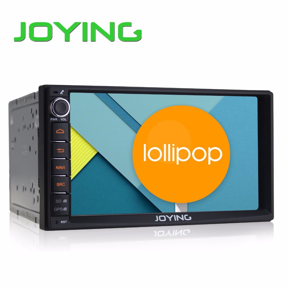 "Joying 7"" Double 2 Din Android 5.1 Lollipop Universal Car Radio Quad Core 1024*600 HD Car GPS Navigation Best Head Unit Car PC"