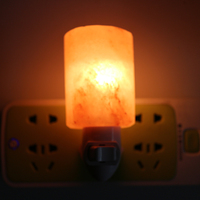 ICOCO 1pcs Rotatable Salt Lamp Bedroom Natural Night Lamp Electric Salt Rock Night Light For Corridor