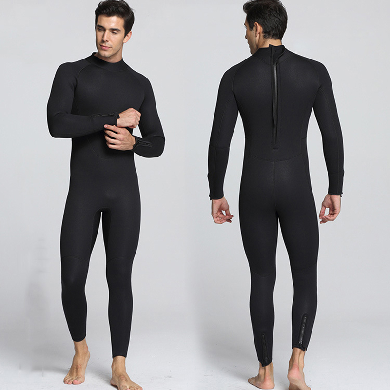 5MM Thickend Neoprene Wetsuit Full Body Swimsuit Long Sleeve Surfing Scuba Diving Suits For Men Sailing Spearfishing Wetsuit